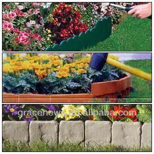Simply Set Up Garden Cobbled Stone Effect Garden Hammer-in Lawn Edging