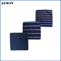 custom polyester men's handkerchief stripe styles necktie sets