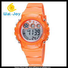 WJ-5254 candy color rubber strap children hours waterproof OHSEN student sport watch