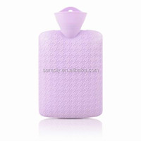 pvc hot water bottle 2000ml wholesale price (big houndstooth )