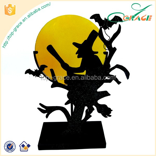 Halloween witch tea light holder Halloween witch candle holder