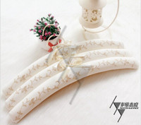 Single rod Satin padded clothes/wedding dress/skirt hangers