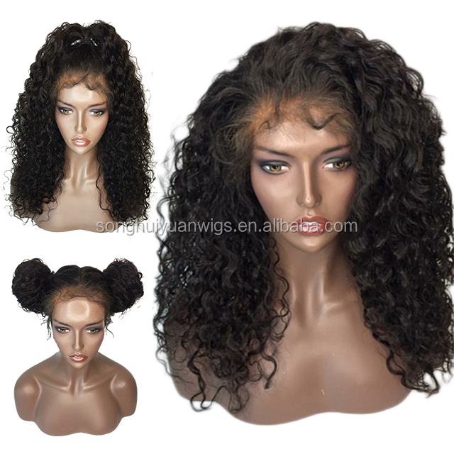 Remy Glueless Full Lace wig 100% Curly Human Hair Wigs