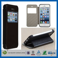 C&T Mobile phone wallet leather pu&pc case for iphone 5