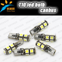 180Lumen Super white car interior lights T10 SMD light bulbs for cars red/blue/yellow/green/white T10 canbus led bulbs