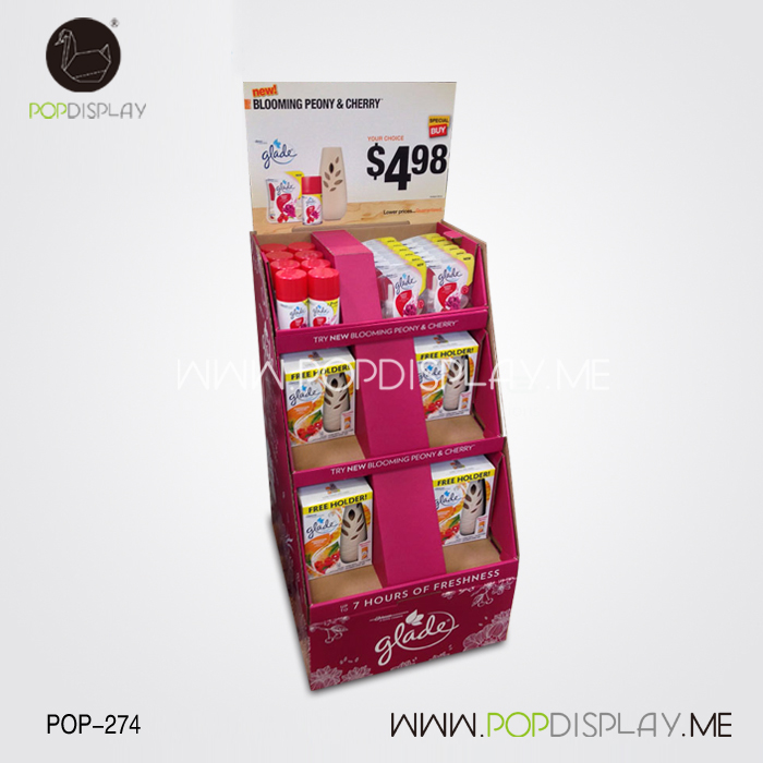Low Price hand cream cardboard floor displays of ISO Standard