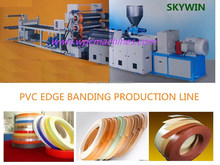 Good Plaseification 630-1000 mm width Colorful PVC Edge Banding Production Line