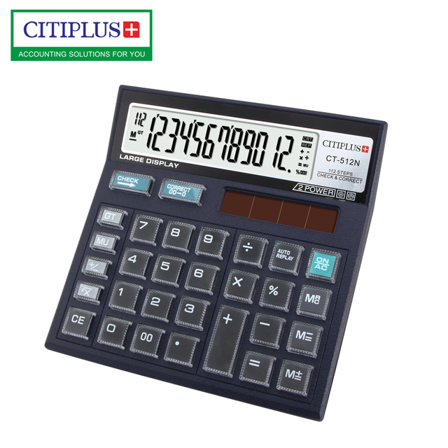 CT512N 112 steps check correct calculator with crystal buttons calculator