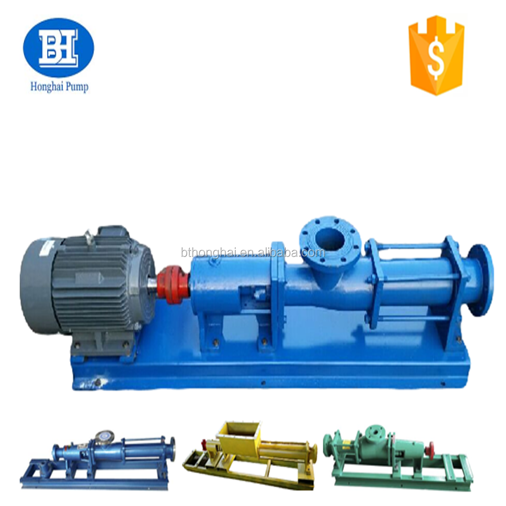 G series stainless steel mono screw sludge sewage pump