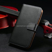 Genuine leather wallet case for Note 3 with credit card holder