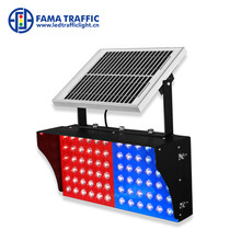 Bule and red flashing LED Solar Strobe warning traffic Light