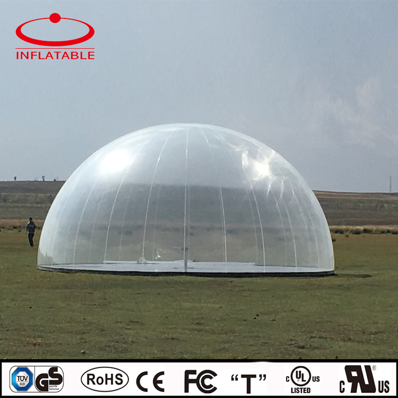 clear inflatable stage tent, inflatable bubble tent, inflatable transparent tent