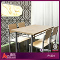 MDF top Iron legs dining table chairs 1+6 &1+4