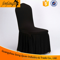 different color ruffled lycra spandex cheap chair cover