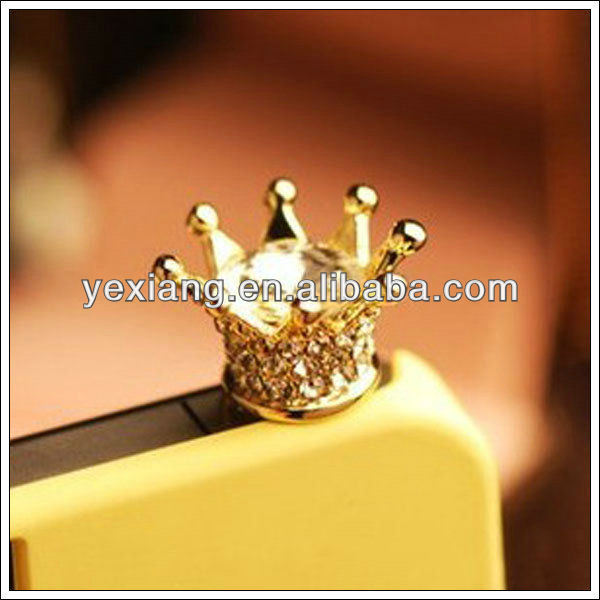 Imperial crown 3.5mm Dustproof Plug Anti-Dust Ear Cap Plug for iPhone5/iPhone 4S/Samsung S4/S3