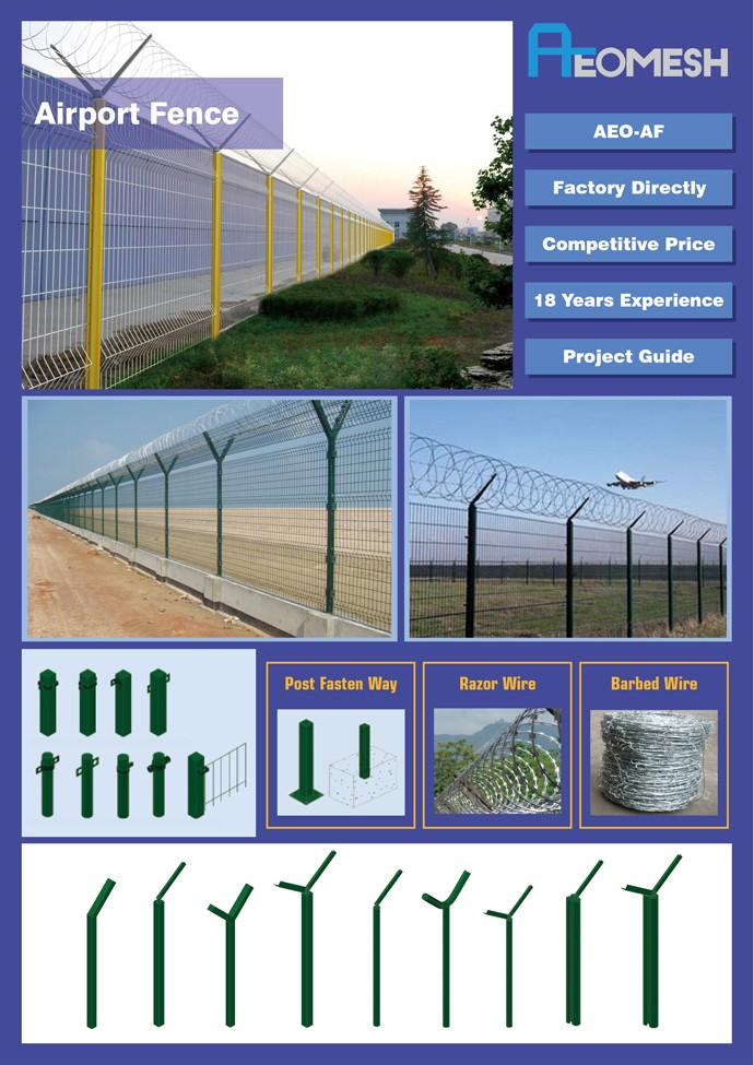 Galvanized Welded Wire Mesh iron fence design Privacy fence