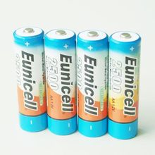 1.5V R6 AA rechargeable battery 2500mah 1.2v NIMH AA AAA batteries