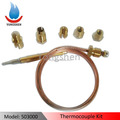 Universal thermocouple kit for BBQ grills