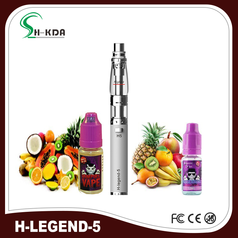 100% Original H-legend 5 Atomizer shisha hookah pen with leds USB charger and water installation