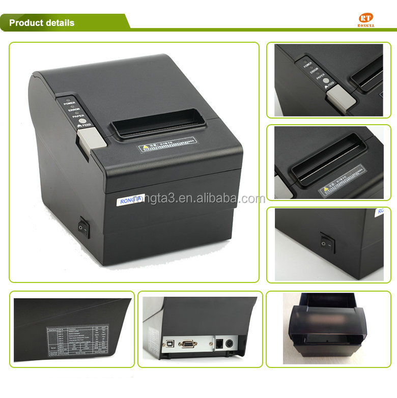 Android Pos Printer Bluetooth POS 80mm Thermal Printer with Auto Cutter Printing Speed 250mm/s