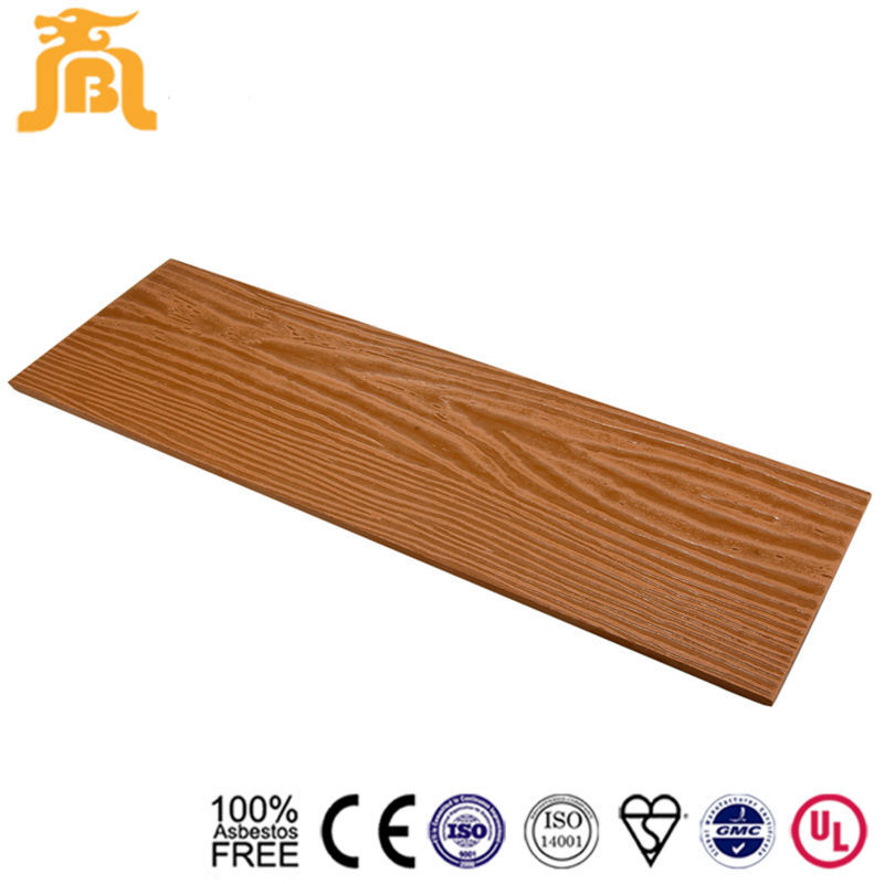 Sand beige color Mineral fiber Exterior wood cement siding