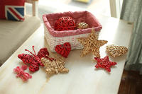 Christmas decoration,Decoration,wicker heart,wicker star