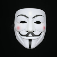 Manufacture cheap wholesale V for Vendetta Plastic face halloween smile mask