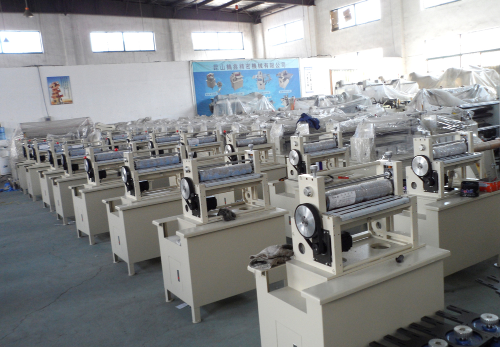 Multi-layer roll to roll lamination machine with 7 shafts