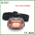 Waterproof 3W COB Touch Switch COB Headlight Including Red Light