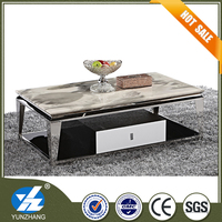 white marble coffee table multifunctional tea table