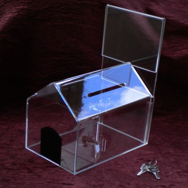 Acrylic charity donation box