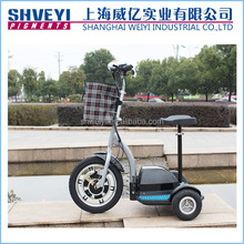 Top quality brushless motor 3 wheels electric scooter factory price