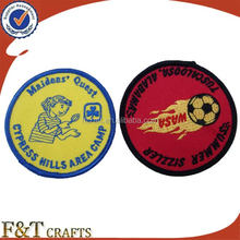 Custom design iron on embroidery patches for jackets