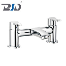 Modern Bathroom Square Brass Sink Basin Mixer Bath Filler Shower Taps deck mounted in chrome finishing