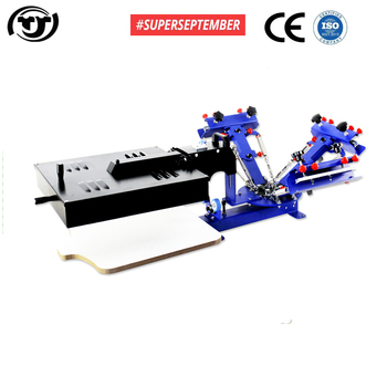 SUPERSEPTEMBER Desktop Manual 4 color 1 station screen printing machine with flash dryer