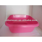 plastic square wash basin with water mouth