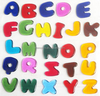Factory design english alphabet jelly gel sticker window sticker
