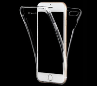 2017 Hard Transparent Shock Proof 360 Front and Back Full Protective TPU Phone Case Cover for iPhone 7