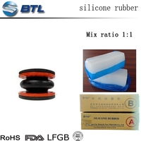 Industrial grade htv2 and rtv 2 silicone rubber raw material for auto parts