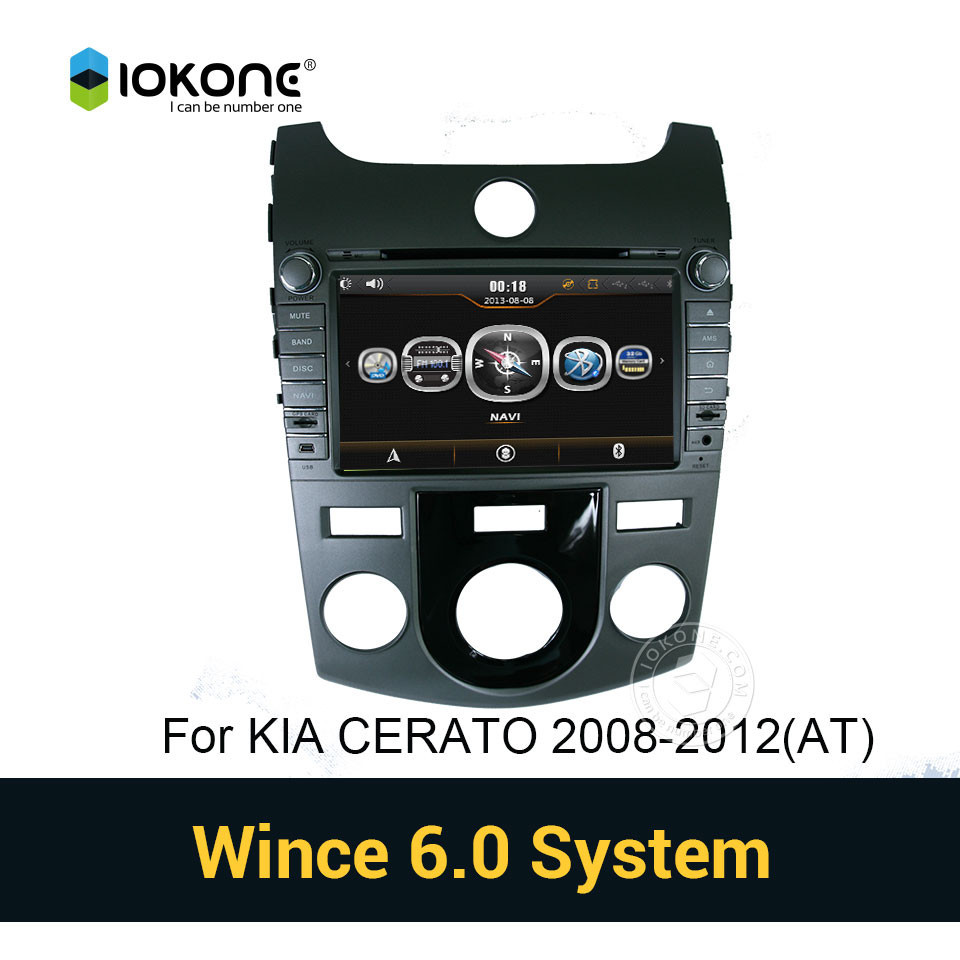 Iokone touch screen Car DVD Player with GPS navigation for KIA CERATO 2008-2012 AUTO