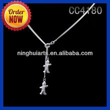 Small Wooden Cross Empty Cup Chain 2014 Necklace Decorated with Fashion Jewelry made in China