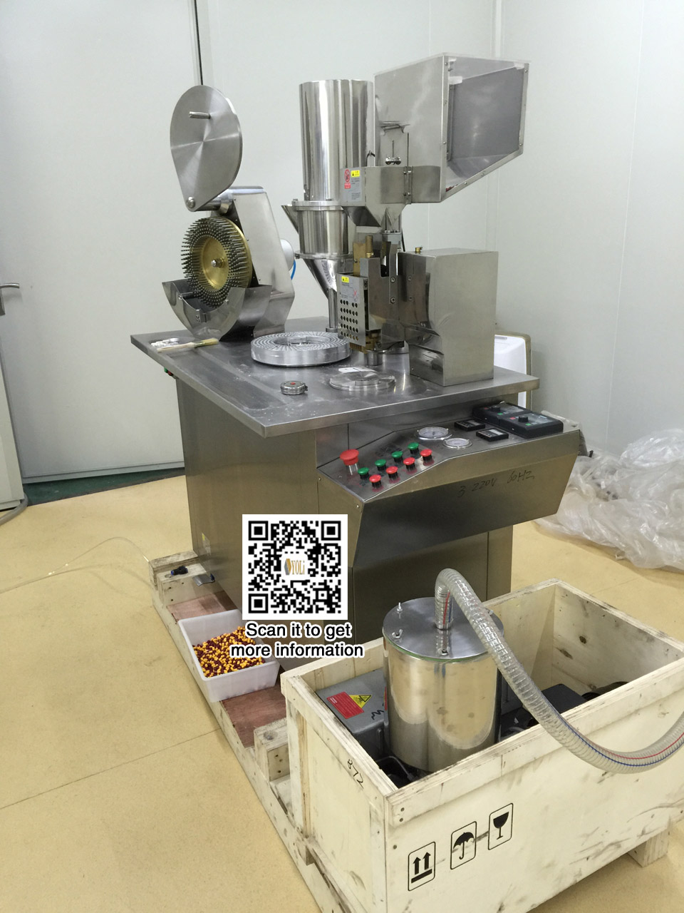 yoli Semi-automatic capsule filling filler machine operating by double pans,10000-25000/hour