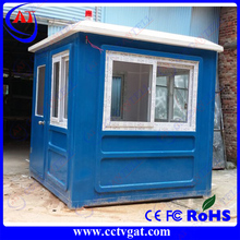 Strong prefabricated ROHS Steel frame structure single person space protable Prefab security house