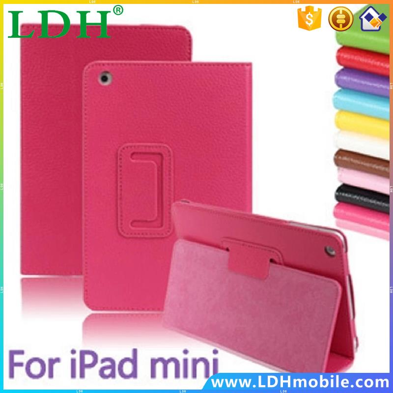 Matte Litchi Surface Flip PU Leather Case for apple Ipad mini MINI 2 with Retina Smart Stand Magnetic Sleep Wake UP Pouch Cover