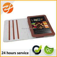 Folio Stand PU Leather Case Phone Cover Cases For Kindle fire with slots