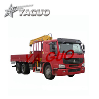 howo and xcmg new mobile 8 tons truck mounted crane