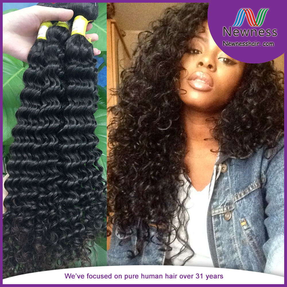 Chinese Virgin Afro Kinky Curly Weaving Hair Extensions