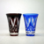 2018 Popular 280ml Wholesale Blue Red Colored Engraved Glass Tumbler Tea Cup