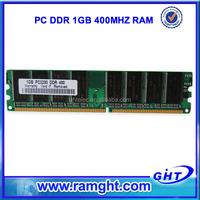 Non ecc 64mbx8 pc3200 8bits pc400 ddr 1gb memory ram