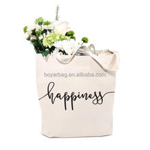 Logo Printed Tote Bag Grocery Shopping Bag Organic Cotton Picking Bags